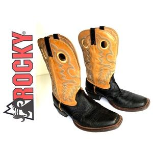 Rocky Leather Cowboy Boots